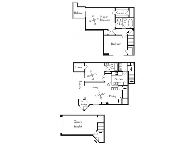 3 Bedroom Floor Plan | Apartments For Rent In Phoenix, AZ | Pavilions on Central Apartments
