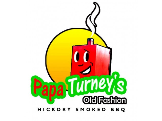Papa Turney's Old Fashioned BBQ Logo