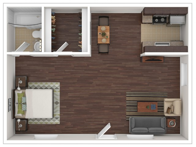 Studio Floor Plan | Apartments For Rent In Glendale, AZ | Stillwater Apartments