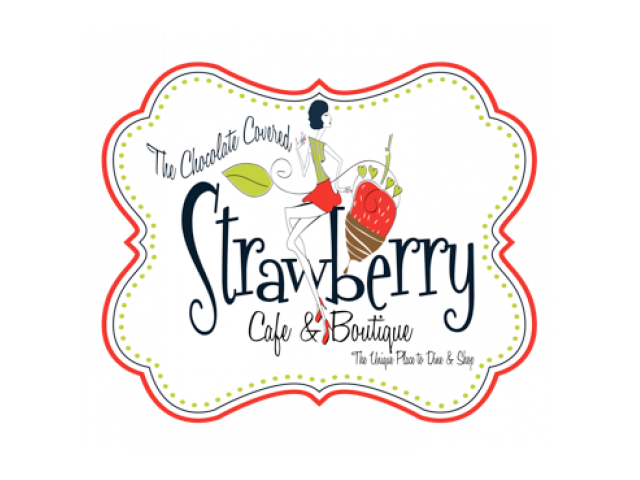 The Chocolate Covered Strawberry Cafe & Boutique Logo