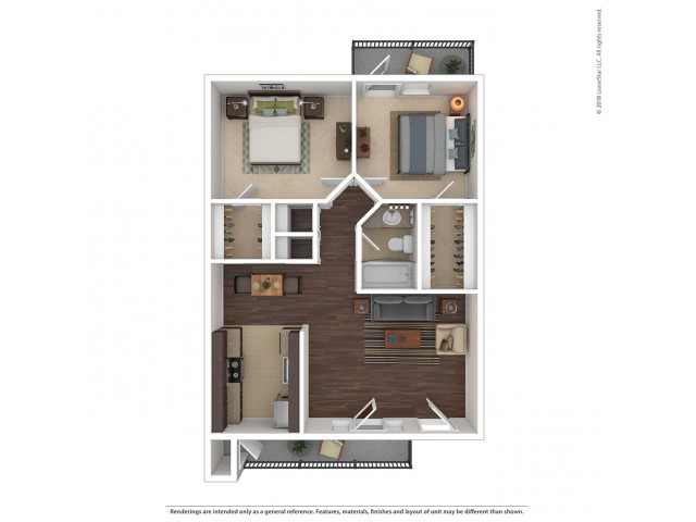 2 Bedroom Floor Plan | Apartments For Rent In Glendale, AZ | Stillwater Apartments