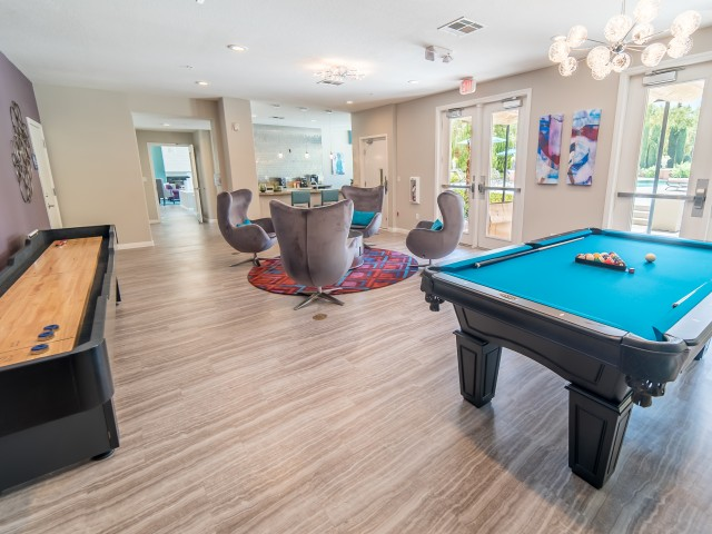 Image of Gaming Center with Shuffle Board and Pool Table for Verona Apartments