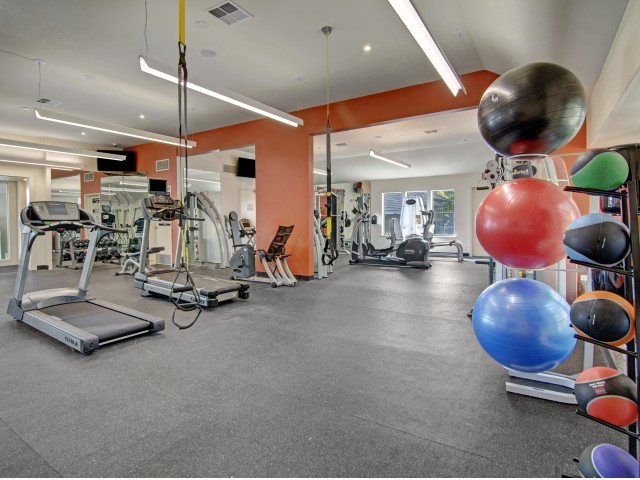 Image of Fitness Center with Free Weights for One Jefferson Apartments