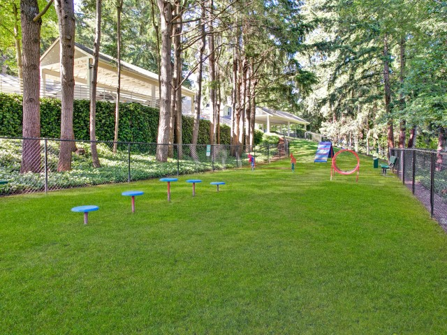Image of Largest Private Dog Park in Redmond for The Heights at Bear Creek Apartments