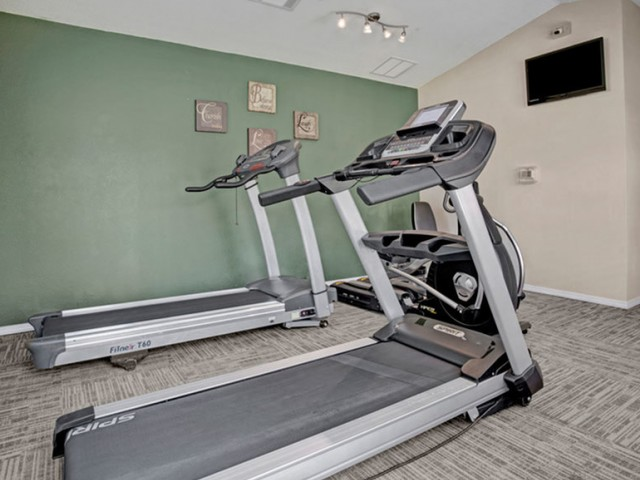 Image of 24-Hour Fitness Center with Free Weights for Crown Ridge of North Edmond Apartments