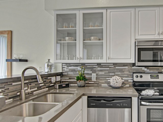 Image of Glass Front Cabinets for Pavilions on Central Apartments