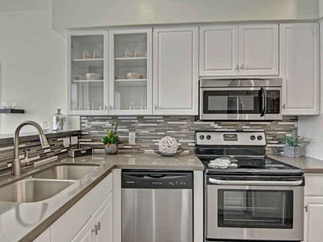 Image of Stainless Steel Appliances for Pavilions on Central Apartments