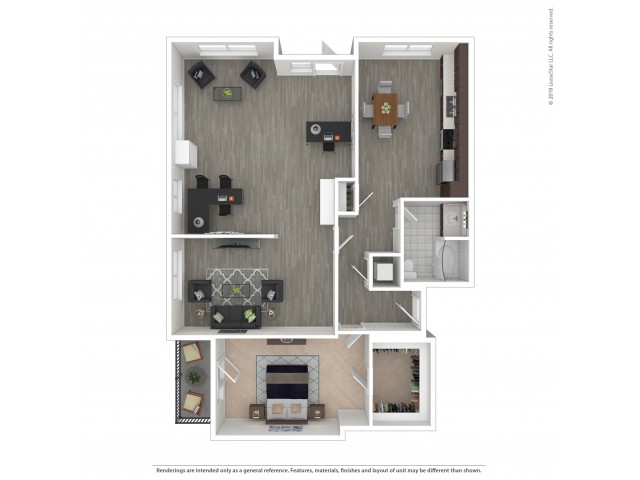 1 Bedroom Floor Plan | Apartments For Rent In Seattle, WA | Legacy at Pratt Park Apartments