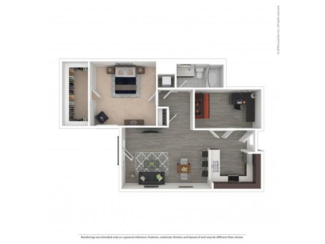 1 Bedroom Floor Plan   Apartments For Rent In Seattle, WA   Pratt Park Apartments