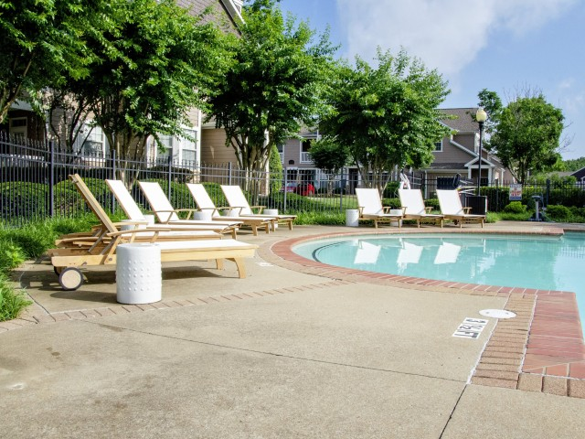 Image of Pool Side Sundeck with Lounge Chairs for Hamptons at Woodland Pointe