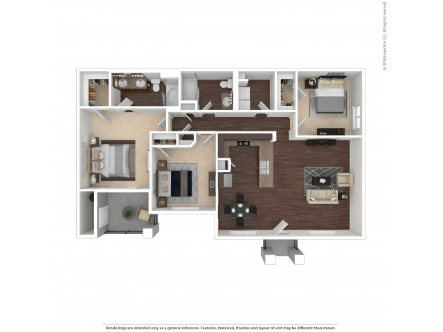 3 Bedroom Floor Plan | Apartments For Rent In Henderson, NV | The Edge at Traverse Pointe Apartments