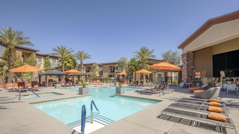 Image of Two Pools and a Hot Tub/Spa for The Edge at Traverse Pointe Apartments