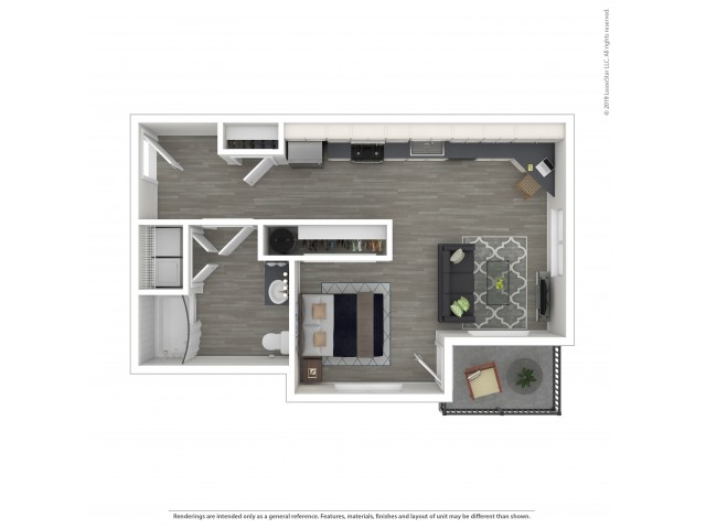 Studio Floor Plan | Apartments For Rent Lacey Wa | The Marq on Martin