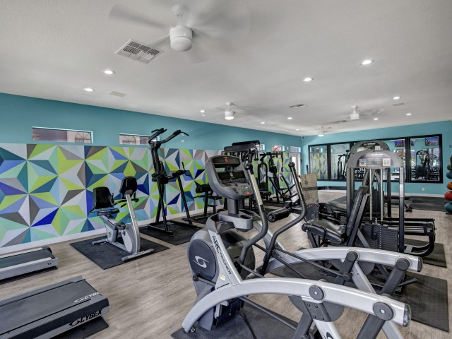 Image of Fitness Center with Weights & Exercise Equipment for Martinique Bay Apartments
