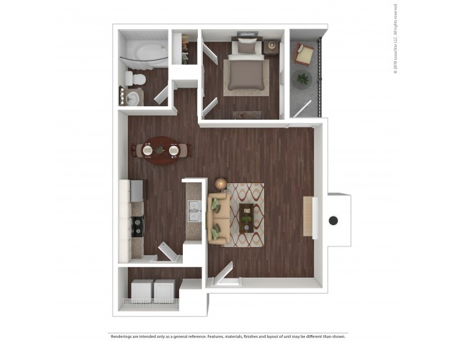 1 Bedroom Floor Plan | Apartments For Rent In Aurora Co | The Grove at City Center