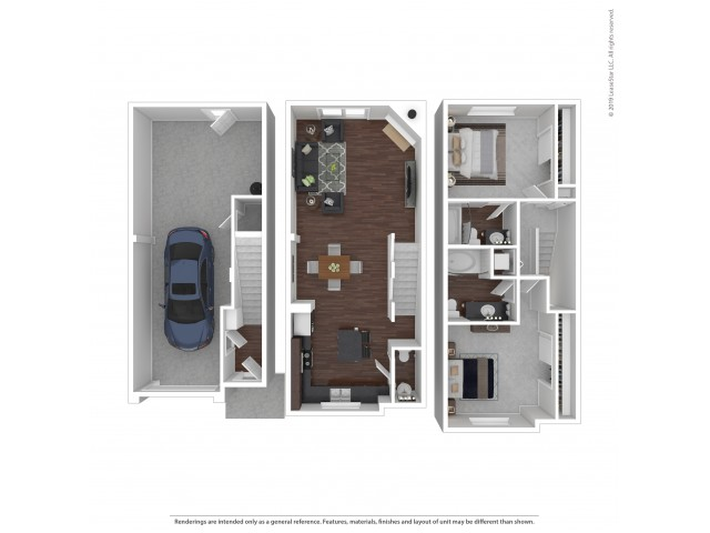 2 Bedroom Floor Plan | Apartments and Townhomes For Rent In Puyallup, WA | Brookstone at Edgewater