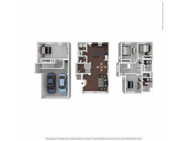 4 Bedroom Floor Plan | Apartments and Townhomes For Rent In Puyallup, WA | Brookstone at Edgewater