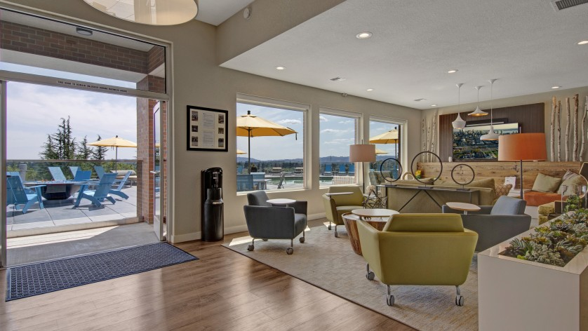 Image of Clubhouse with Pool Table, Shuffleboard, & Giant Scrabble for Arbor Heights Apartments
