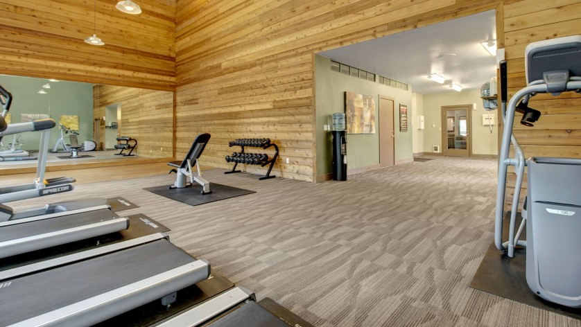 Taluswood Apartments Fitness Center with free weights | Apartments In Mountlake Terrace, WA | Taluswood Apartments