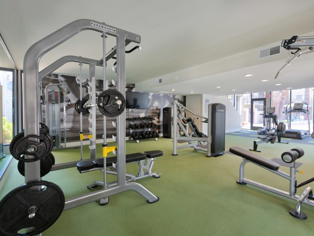 Image of 24-Hour Fitness Center with Free Weights for The Rev Apartments