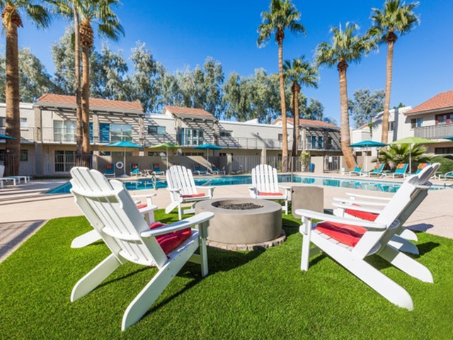 Image of Fire Pit with Lounge Seating for The Rev Apartments