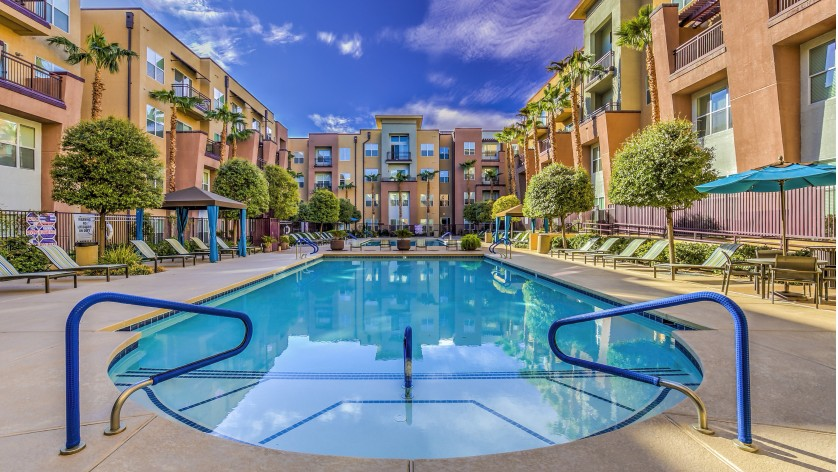 Image of Resort Style Pool and Spa for Lofts at 7100 Apartments