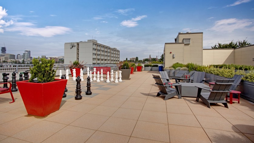 Image of Roof Top Chess Set for Pratt Park Apartments