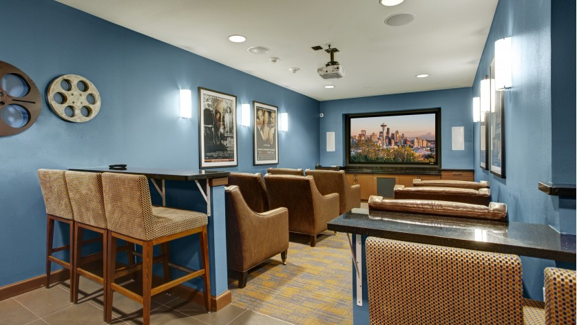 Image of Dolby Surround Sound Community Theater Room for Pratt Park Apartments