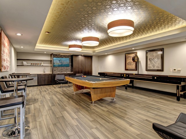 Image of Billards Table and Shuffleboard for Tessera Apartments