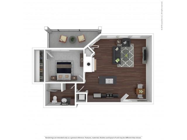 Villas at Kennedy Creek 1 Bedroom Apartment