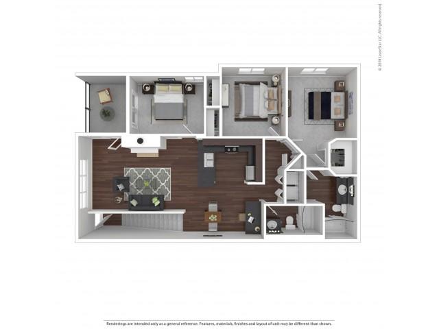 Villas at Kennedy Creek 3 bedroom apartment