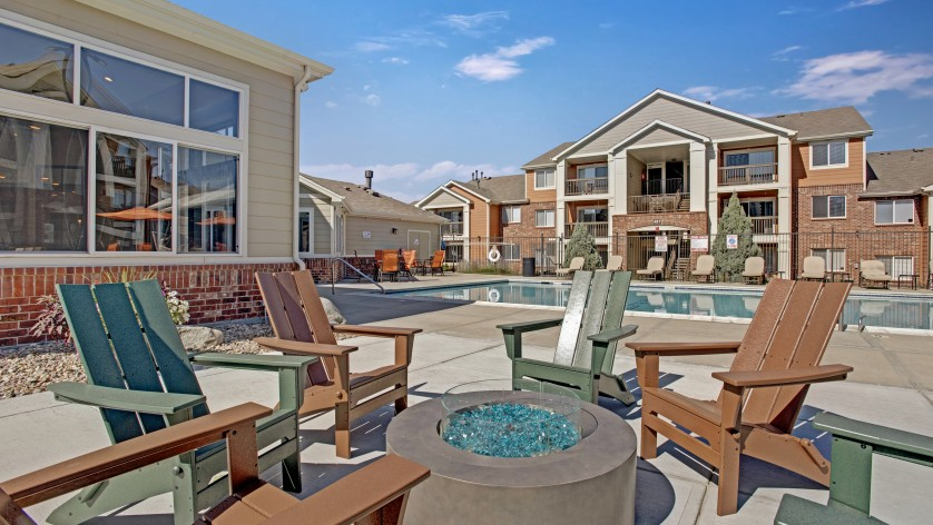 Outdoor Fire Pit | Apartments For Rent Castle Rock Colorado | The Bluffs at Castle Rock