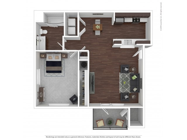 1 Bedroom Floor Plan | Apartments For Rent In Bremerton, WA | Insignia Apartment Homes