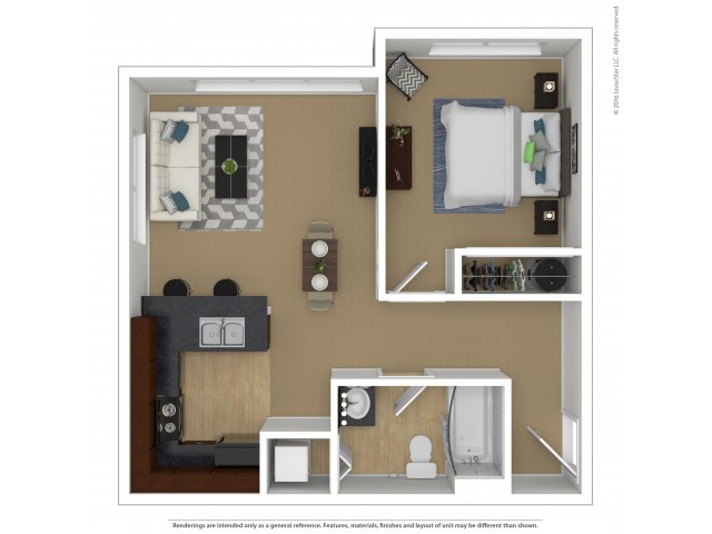 1 Bdrm Floor Plan | 3 Bedroom Apartments In Beaverton Oregon | Element 170