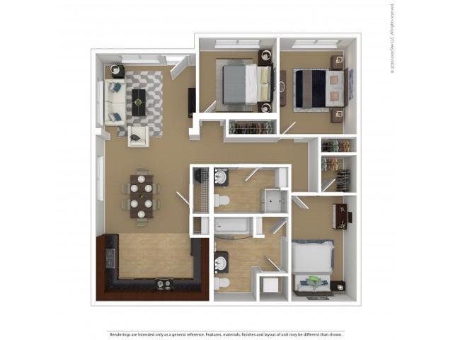 Floor Plan 5 | Portland Oregon Apartments Pet Friendly | Element 170