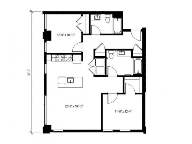 Two Bedroom Two Bath