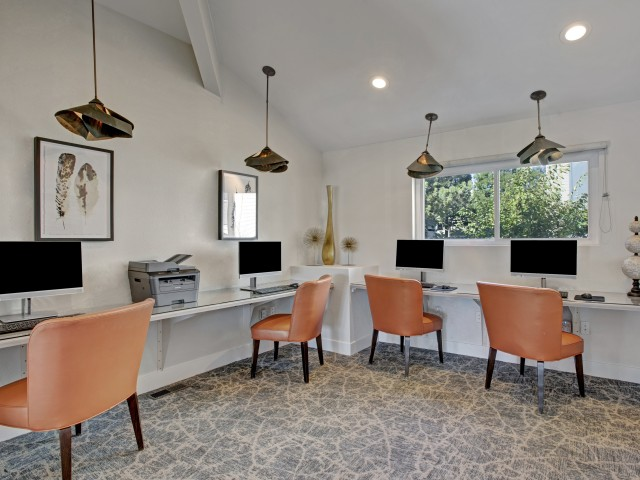 Image of Cyber Cafe with Wi-Fi for The Grove at City Center Apartments