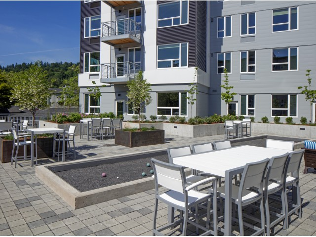 Image of Community Courtyard with Lounge Area & Bocce Ball for Sanctuary Apartments