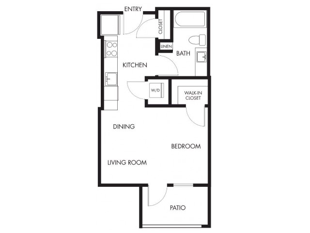 Studio Floor Plan | Anthology Apartments | Apartments For Rent Issaquah Wa