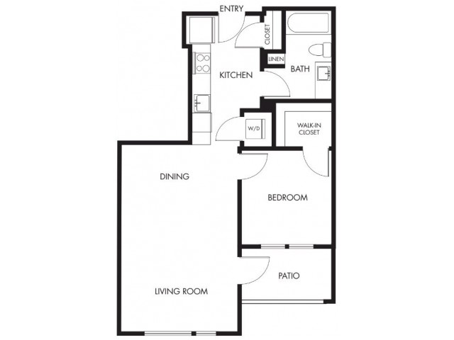 1 Bdrm Floor Plan | Anthology Apartments | Issaquah Apartments