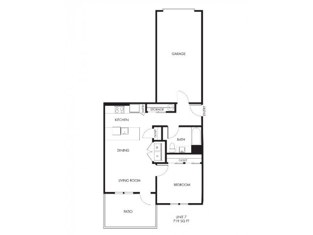 One Bedroom One Bath Garden with Garage| Issaquah Apartments