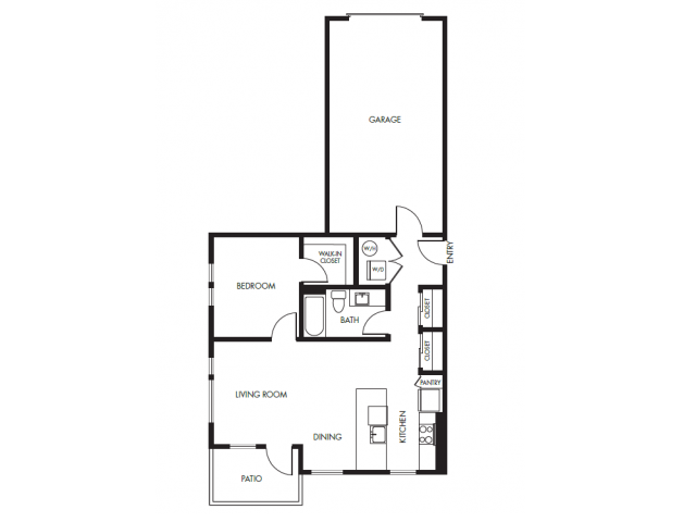 Floor Plan 7 | Anthology Apartments | Issaquah Apartments