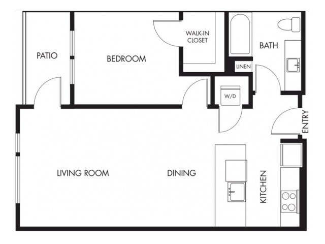 Floor Plan 8 | Anthology Apartments | Apartments For Rent Issaquah Wa
