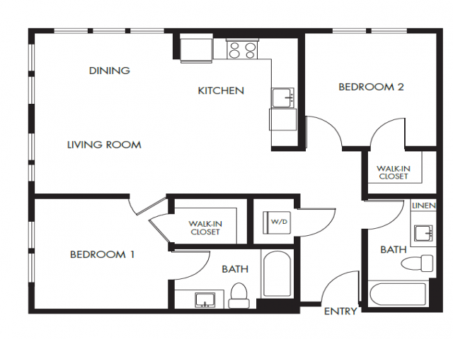 2 Bedroom Floor Plan | Anthology Apartments | Apartments For Rent Issaquah Wa