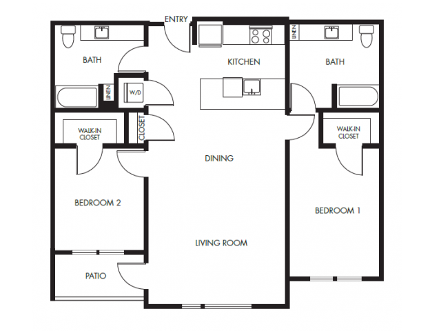 2 bdrm 2 bath podium Floor Plan 16 | Anthology Apartments | downtown Issaquah apartments