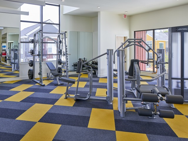 Image of Fitness Center with Peloton Bikes for Anthology Apartments