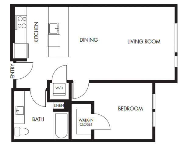 Floor Plan 1 | Anthology Apartments | downtown Issaquah apartments