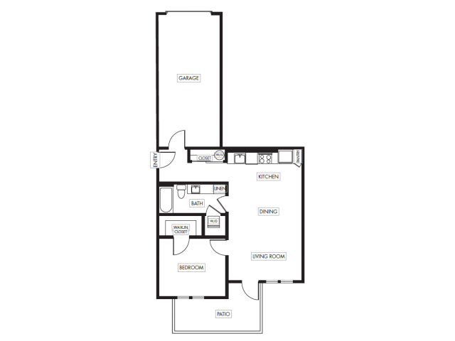 Floor Plan 6 | Anthology Apartments | downtown Issaquah apartments