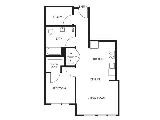 Floor Plan 9 | Anthology Apartments | Apartments Issaquah Wa