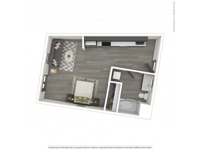 Studio Floor Plan  |  Apartments For Rent in Portland, OR  |  Sanctuary Apartments